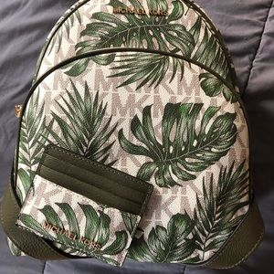 BNWT Authentic MK Backpack & Cardholder